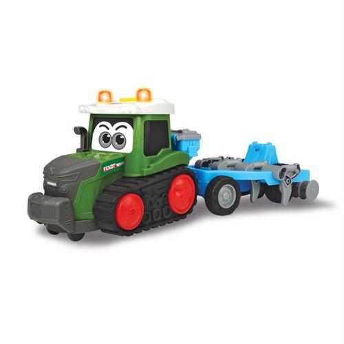 Image of Happy fendt traktor med plov