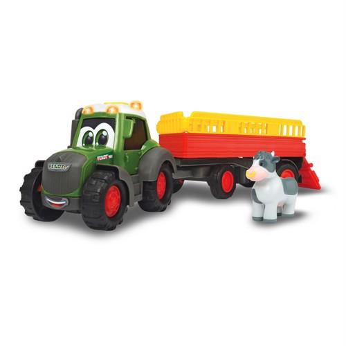 Image of Happy fendt traktor med trailer