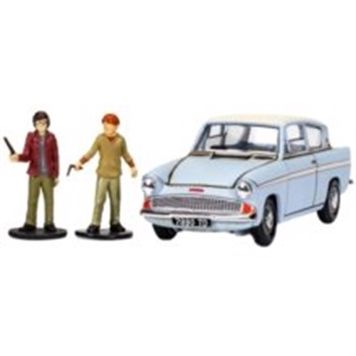 Image of Harry Potter - Enchanted Ford Anglia w/ Harry And Ron Figures Die Cast 1:43 Scale (CC99725) (5055286658587)