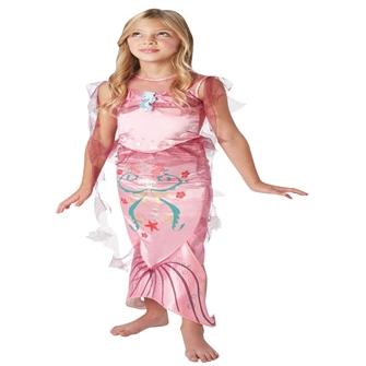 Image of Havfrue Pink Udklædning til børn(Str. 122/S)