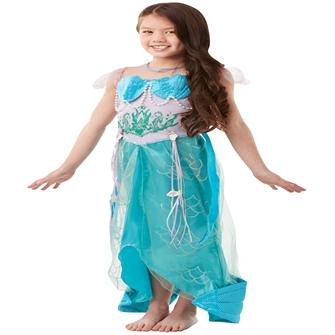 Image of Havfrue Prinsesse Deluxe Udklædning til børn(Str. 137/M)