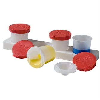 Image of Holder with Anti-spill pots 320ml, 4pcs. (8714181170606)