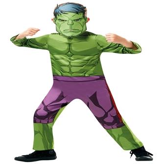 Hulk Udklædningstøj (2-9 år)(Str. 98/Toddler)