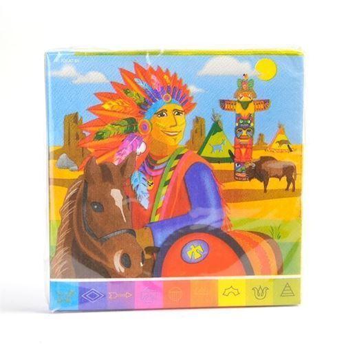 Image of Servietter med indianer 20 stk