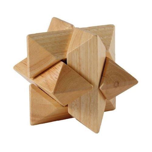 Image of IQ puslespil i træ, stjerne