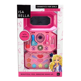 Image of Isabella Make-up Set in Box with Mirror (8711866276615)