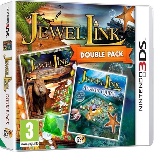 Image of Jewel Link Double Pack Safari Quest and Atlantic Quest, Nintendo 3DS