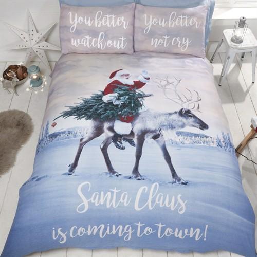 Image of Julemanden Santas Coming to Town sengetøj til børn