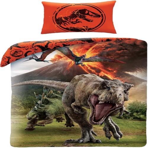Jurassic World Sengetøj 2I1 Design 100 Procent Bomuld