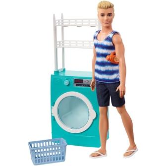 Image of Barbie, Ken tager vasketøjet
