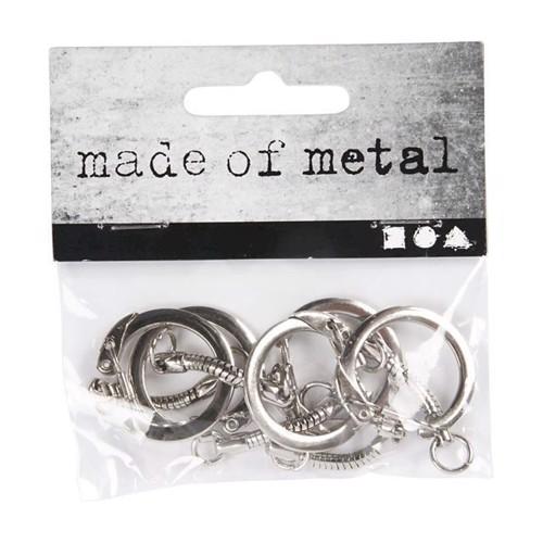 Image of Metal Nøgleringe, 5stk
