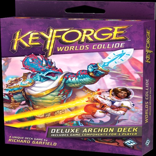 Image of Keyforge worlds collide deluxe deck (0841333110345)