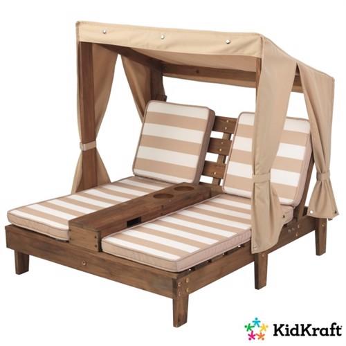 Image of Kidkraft Double Lounge Med Kopholdere Espresso