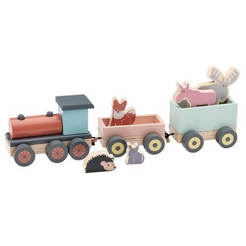 Image of   Tog med dyr i træ, Kids Concept