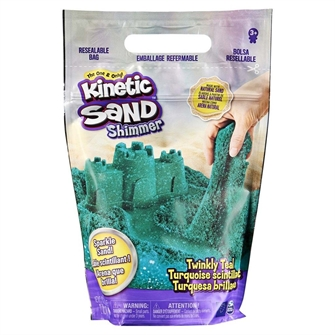 Image of Kinetic Sand - Glitter Sand - Teal (6060801) (0778988246696)