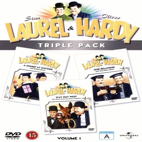 Image of   Laurel Hardy Triple Pack 1 A Chump at Oxford Way Out West Our Relations DVD