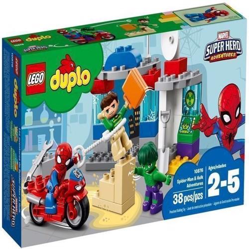 Image of   Lego Duplo 10876 Spiderman og Hulk eventyr