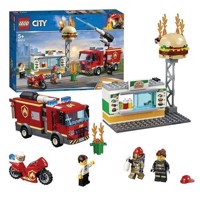 LEGO City 60214 brand på burger resteaurant