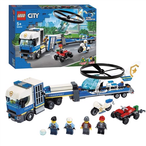 Image of Lego city 60244 Politi helikopter transport