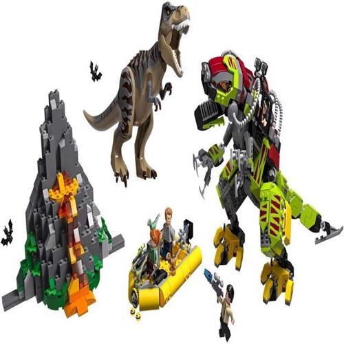 Image of Lego Jurassic World 75938 T-rex vs DinoMech