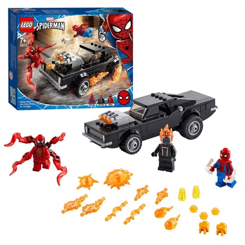 Image of LEGO Marvel 76173 SpiderMan & Ghost Rider mod Carnage (5702016912784)