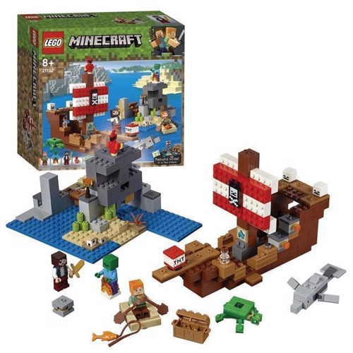Image of Lego Minecraft 21152 Adventure On The Pirate Ship