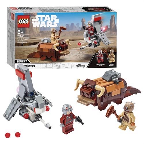 Image of Lego Star Wars 75265 t-16 skyhopper vs Bantha microfighters