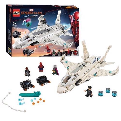 Image of Lego Super Heroes 76130 Stark Jet Fighter Og Drone Angrebet