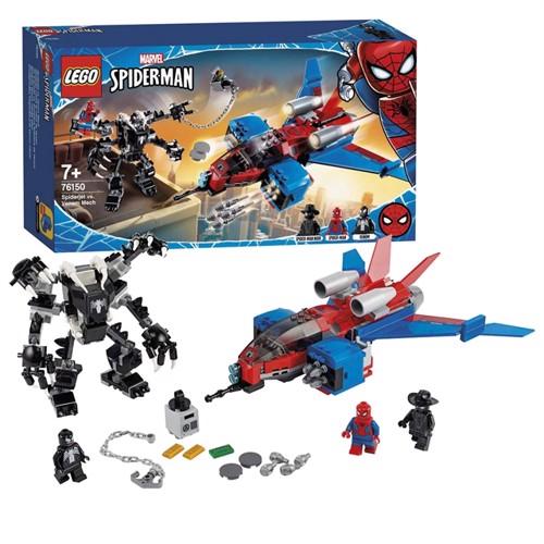 Image of LEGO Super Heroes 76150 Spiderjet Vs Venom Mecha
