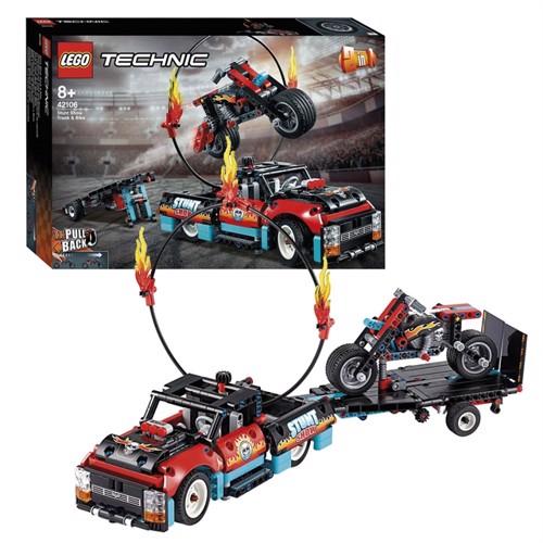 Image of Lego Technic 42106 bil og motorcykel til stuntshow