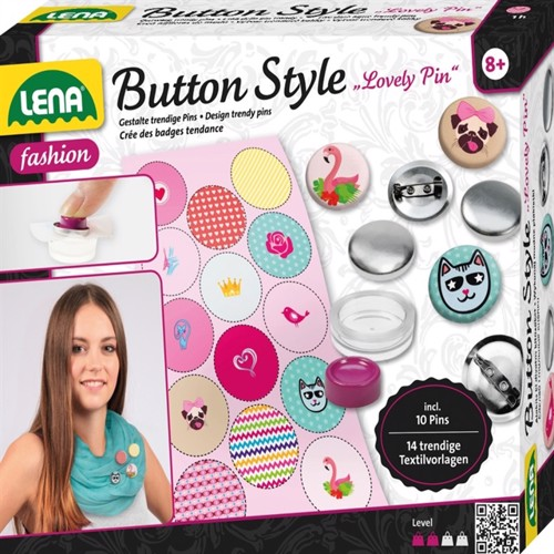 Image of Lena Badge Design ''Lovely Pin'' til børn (4006942707300)