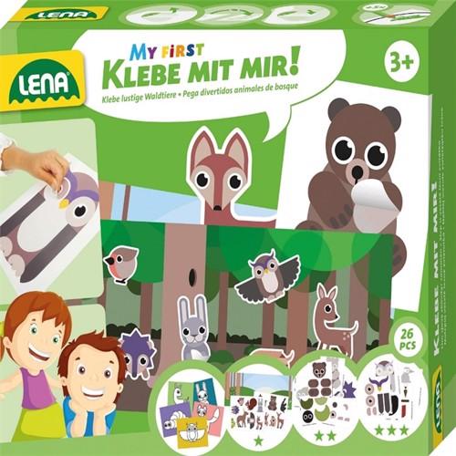 Image of Lena Mit Første Lim Med Mig Dyr Fra Skoven Til Børn