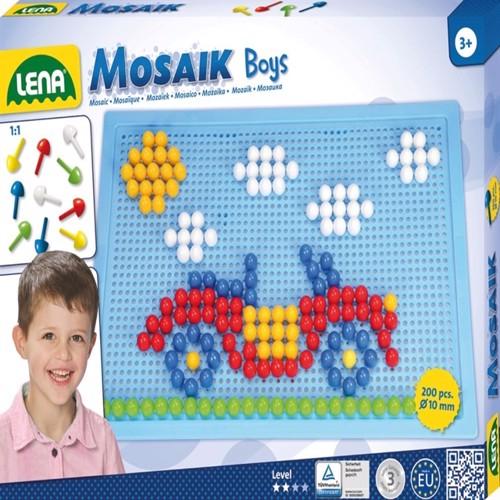 Image of Lena Mosaic Perlesæt 200 Stk 10Mm Blå
