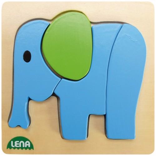 Image of Lena træ puslespil elefant