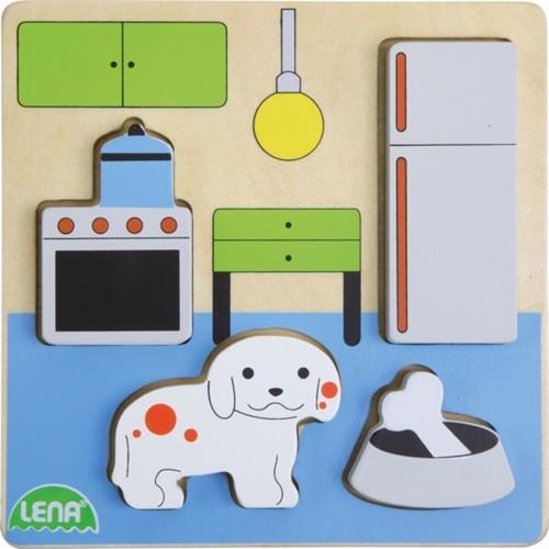 Image of Lena træ puslespil køkken