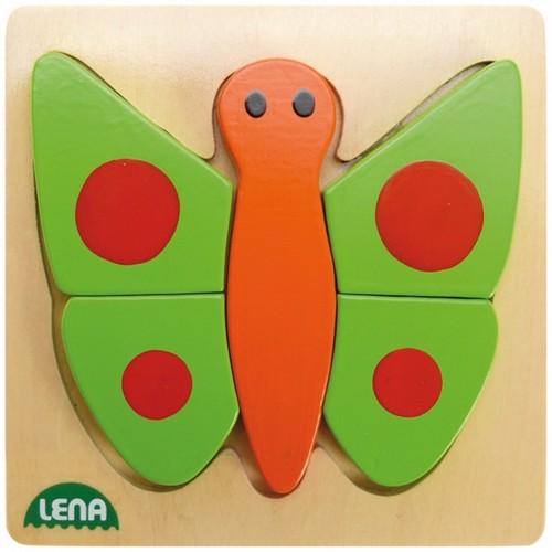 Image of Lena træ puslespil sommerfugl