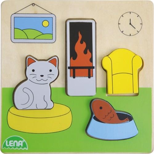Image of Lena træ puslespil stue