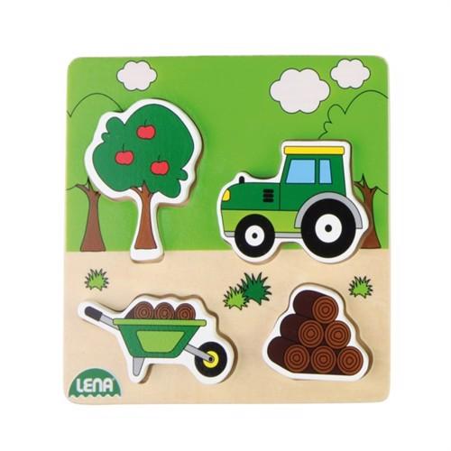 Image of Lena træ puslespil traktor