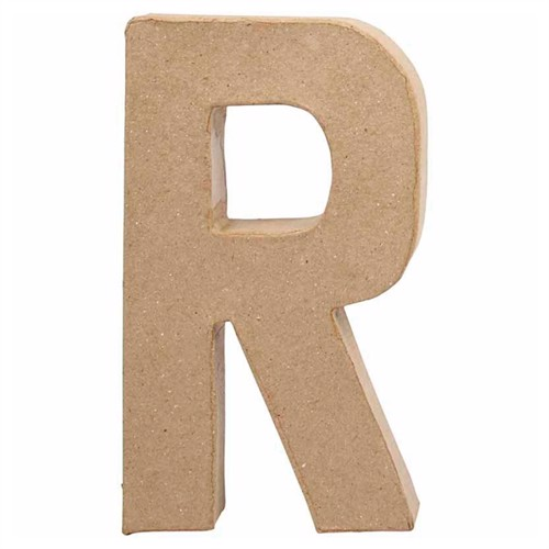 Image of Letter Papier Mache - R (5707167566183)