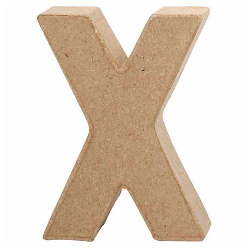 Image of Letter Papier-mache Small - X (5707167567524)