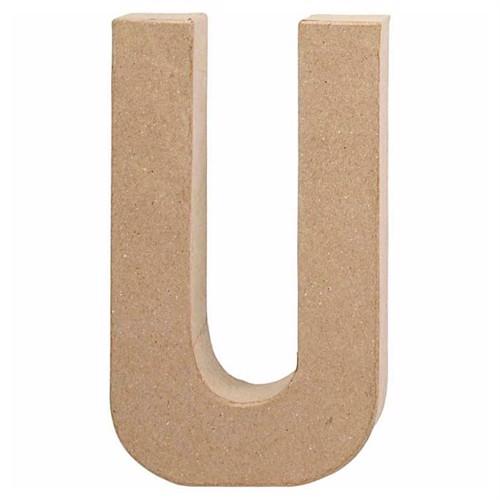 Image of Letter Papier-mache - U (5707167566275)