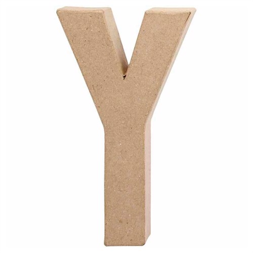Image of Letter Papier-mache - Y (5707167566398)