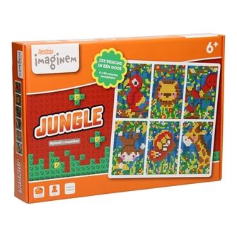 Image of Ludos Pixel by Number Startsæt Jungle, 1250 dele