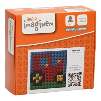 Image of Ludos Pixel by Number Traktor, 144 dele