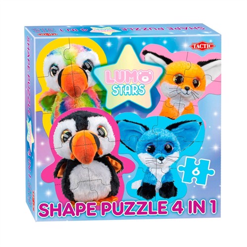 Image of Lumo Stars Shape Puzzle 4in1 - Parrot and Foxes (6416739563169)