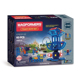 Image of Magformers Power Gear Set, 60dlg. (8809134367643)