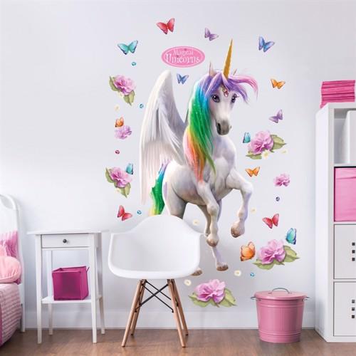 Image of Magiske Enhjørninger Magical Unicorn Kæmpe Figur Wallsticker (5060107045996)