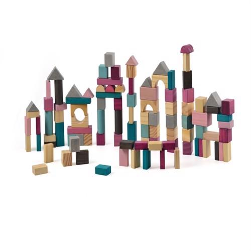 Image of Magni byggeklodser i træ, 100 dele (5707594295694)