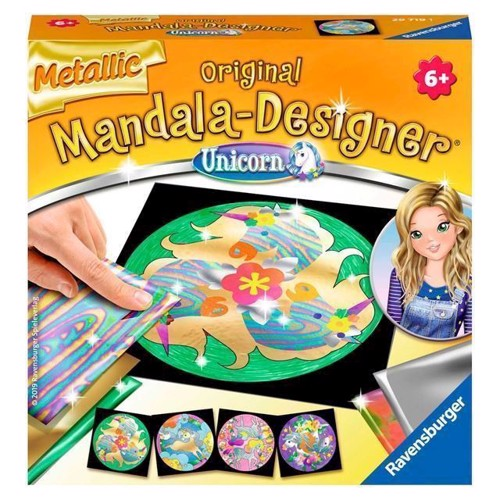 Image of Mandala-Designer - Metallic Enhjørning (4005556297191)