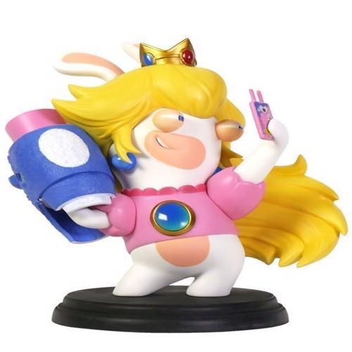 Image of Mario Rabbids Kingdom Battle 6 Inch Peach Rabbid Figurine - PC (3307216015222)